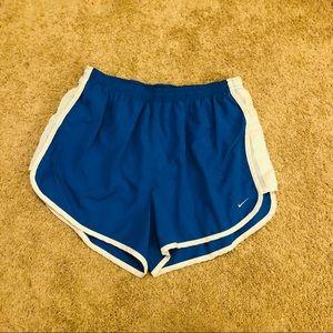 Blue & White Nike Dri-Fit Shorts- Large